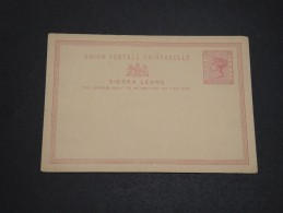 GRANDE BRETAGNE / SIERRA LEONE - Entier Postal Non Voyagé - A Voir - L  3371 - Sierra Leone (...-1960)