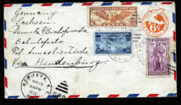 A4273) US Brief Von New York 19.5.1936 Vorbereitet Für Zeppelin Hindenburg Per Luftpost Nach Deutschland - United States