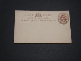 GRANDE BRETAGNE / CAP DE BONNE ESPÉRANCE - Entier Postal  Surchargé Non Voyagé - A Voir - L  3373 - África Del Sur (...-1961)