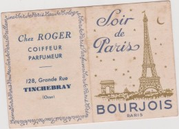 Vieux  Papier  : Calendrier De  Poche Parfumeur Coiffeur , Tinchebray , Orne   1958 , Bourgeois, Tour  Eiffel , Arc - Sin Clasificación
