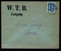 A4274) DR Infla Zeitungsmitteilungs-Drucksache Von WTB Leipzig Nach Greiz Per Bahnpost LEIPZIG-HOF 6.9.21 - Deutschland