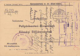 49733- PREPAID POSTCARD FROM THE TG MURES HOSPITAL, 1944, HUNGARY