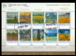 NIEDERLANDE *  VINCENT VAN GOGH * PORTRAITS  * BLOK * BLOC * BLOCK (3) NETHERLANDS * GESTEMPELT * MALEREI * PAINTING - Periode 2013-... (Willem-Alexander)