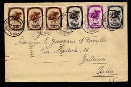 A4276) Belgien Belgium Brief Von Bruxelles 21.1.39 Nach Italien - Belgien