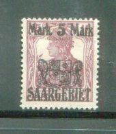SARRE- Y&T N°51- Neuf Avec Charnière * - Unused Stamps