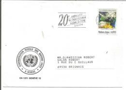 ONU GENEVE LETTRE POUR LA FRANCE 1989 - Office De Genève