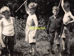 ANCIENNE PHOTO JEUNE GARCON SCOUT ** VINTAGE PHOTO YOUNG BOY SCOUT - Personnes Anonymes