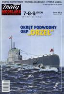 Polish Submarine ORP Orzel 1936-1940 - Paper / Card Model Scale 1/100   By Maly Modelarz - Paper Models / Lasercut