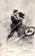 8067. CPA GUERRE 14 18 WW1. ILLUSTRATEUR GEORGES SCOTT. LE VRAI PLEBISCITE - Guerre 1914-18