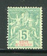 COTE D´IVOIRE- Y&T N°4- Neuf Sans Gomme (un Clair Au Dos Mais Belle Cote!!!)) - Elfenbeinküste (1892-1944)