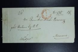 Poland: 1866 Letter  Wloclawek To Nieszawa Postmark In Red Circle Wloclawek 5/9  Ruch 417e - Poland