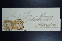 Deutschland / Poland: 1873 Cover Mi Nr 18 Paar Sc Nr 16 Occupation Of Poland Inowraclaw  CDS 14/4 To Strzelno - Germany