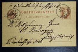 Austria Postcard  1881 Tarnow  Poland CDS To Linz Austria Receiving Cancel