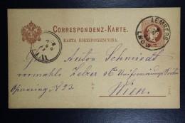 Austria Postcard  1883 From Lwow Poland To Vienna Cancel Lemberg Lwow  (German + Polish) Receiving Cancel Vienna 11/6/83