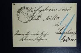 Austria  1888 Lwow Lemberg Local Letter Austrian Occupation 2 Kreuzer On Back