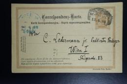 Austria Postcard 1898 Myslenice Galicia Poland To Vienna Title In Polish And Russian