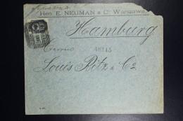 Russia Company Cover Warsaw To Hamburg 1901   Sc 42 10 Kop. Blue