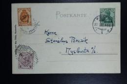 Deutschland Karte Dreikaiserreichsecke  Three Empires Corner 3 Stamps 3 X Different Cancel See Text - Briefe U. Dokumente