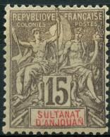 Anjouan (1900) N 15 * (charniere)