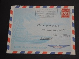 FRANCE - Enveloppe Illustrée Tahiti , Obl. Poste Aux Armées En 1965 Pour La France - A Voir - L  3386 - Marcophilie (Lettres)