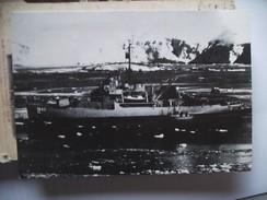 Military Boat In An Ice Sea Photo - Postkaarten