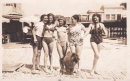06 NICE, Carte Photo, Naiades , Plage Du Rhull, Juillet 1938 Nice - Nice