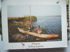 Africa Botswana Children In A Boat - Botswana