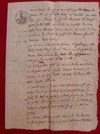 ATH RUE DES CAPUCINES MAISON LE MOUTON BLEU HYPOTHÈQUE 1788  CHARLES JOSEPH LE CERF - Documentos Históricos