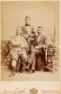 Cabinet Card / Photo De Cabinet / Kabinet Foto / Men / Hommes / Photo Jenny Engel / Frankfurt / Germany - Ancianas (antes De 1900)
