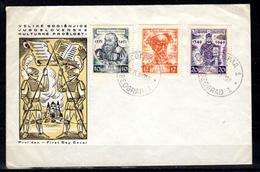 1951   Trubar, Marulic, Dusan, 582 / 584  Ø Sur Enveloppe, Cote 40 €, - 1945-1992 Sozialistische Föderative Republik Jugoslawien