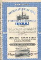 COMPAGNIE DES EAUX DE VIENNE - Eau