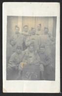 Carte Photo Soldats Du 121° RI 1° Bataillon - Regiments