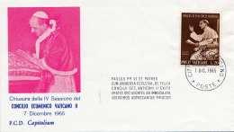 VATICAN 1965 - 20 L Auf FDC Cover Stempel Vatican - Vatikan