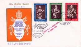 VATICAN 1963 - 3 Fach Frankierter FDC Brief Stempel Vatican - Vatikan