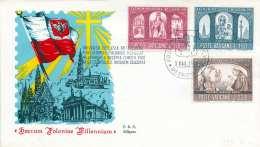 VATICAN 1966 - 3 Fach Frankierter FDC Brief Stempel Vatican - Vatikan