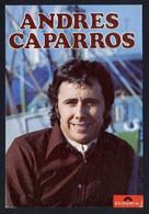 *Andres Caparros* Al Dorso 1 Firma Autógrafa. Impreso *Polydor* Meds: 105x155 Mms. - Autógrafos