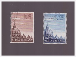 VATICANO -1953 CUPOLA BASILICA DI S PIETRO P.A. OBLITERATI - Poste Aérienne