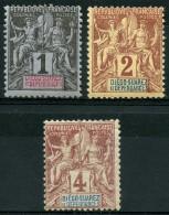 Diego Suarez (1892) N 25 à 27 * (charniere)