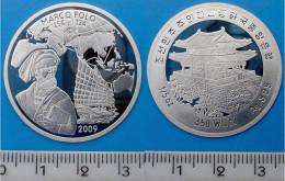 KOREA 350 W 2009 ARGENTO PROOF SILVER VERY RARE MARCO POLO DESCOVERY PESO 15 OZ TITOLO 0,999 CONSERVAZIONE FONDO SPECCHI - Corea Del Sud