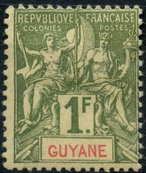 Guyane (1892) N 42 * (charniere)