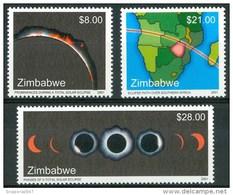 2001 Zimbabwe Eclissi Solare Solar Eclipse Solaire Set MNH** UL50 - Zimbabwe (1980-...)