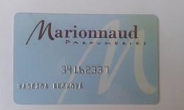 GIFT CARD - CZECH REPUBLIC - MARIONNAUD 02. - Tarjetas De Regalo