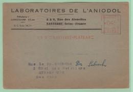 Fr8. EMA  C1893  04f  Laboratoires De L'Aniodol   Nanterre-plateau  18.2.55 - Postmark Collection (Covers)