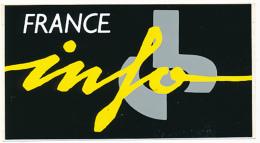 AUTOCOLLANT, STICKERS : FRANCE INFO, Média, Radio, Information - Stickers