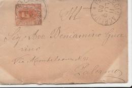 DOC2) 20 CENTESIMI ARANCIO EFFIGE UMBERTO I 1891-96 ISOLATO SU BUSTA VIAGGIATA 1900 - Storia Postale
