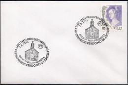 Italia Italy (2016) Special Postmark: Religione/Religion; VIII Centenario Perdono Di Assisi; San Francesco; Porziuncola. - Cristianesimo