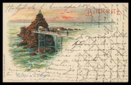 FRANCE - BIARRITZ - Rocher De La Vierge  Carte Postale - Biarritz