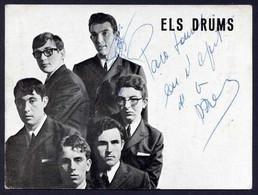 *Els Drums* Texto Y 2 Firmas Autógrafas. Impreso *Concentric* Meds: 102x148 Mms. - Autógrafos