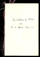 LA CULTURE DU PECHER Par M. O.  OPOIX Mars 1914 Recopiée à La Plume - F. Arbres & Arbustes