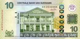 SURINAME 10 DOLLARS 2010 P-163a UNC [SR546a] - Surinam